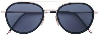 Thom Browne Eyewear Matte Black Sunglasses