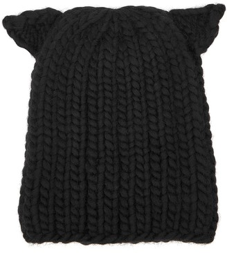 Eugenia Kim Felix Pierced black wool beanie