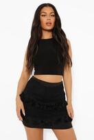 Thumbnail for your product : boohoo Lace Tassel Trim Mini Skirt