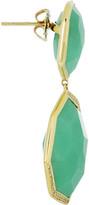 Ippolita Modern Rock Candy 18-karat gold, chrysoprase and diamond earrings