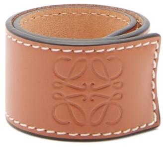 Loewe Logo-debossed Leather Snap Bracelet - Tan