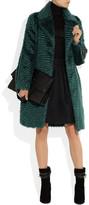 Maison Martin Margiela Faux fur mohair-blend coat