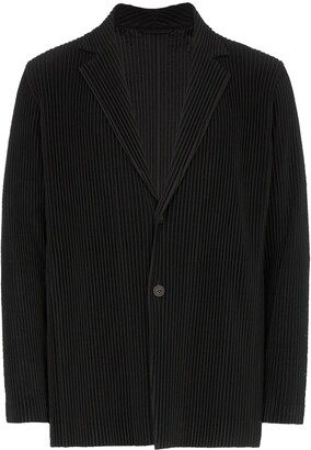 Issey Miyake Homme Plissé single-breasted plissé blazer