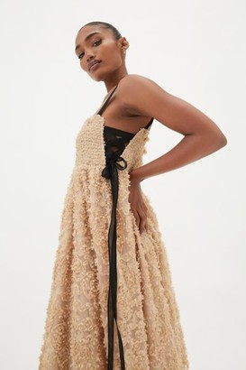 Urban Outfitters Aurora Lace Ruffle Maxi Dress