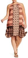 London Times Batik Patchwork Print Jersey Dress (Plus Size)