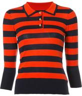 Frame striped collar jumper
