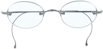 Garrett Leight Makena oval frame sunglasses
