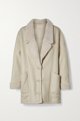 Nili Lotan Noelle Shearling Coat - Off-white