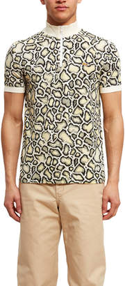 Opening Ceremony Lacoste For Snakeskin Print Mock Neck Polo