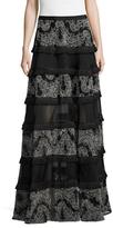 Alexis Carosini Embroidered Maxi Skirt