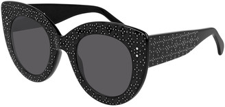 Alaia Oversized Acetate Cat-Eye Sunglasses