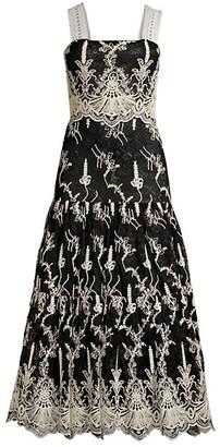 Alexis Karolina Embroidered Lace Tea Dress