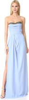 Marchesa Strapless Crepe Gown