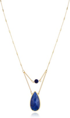 Eye Candy Los Angeles Sodalite Drop Dangle Necklace