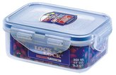 Lock & Lock Rectangular Storage Container, 350 ml - Clear/Blue