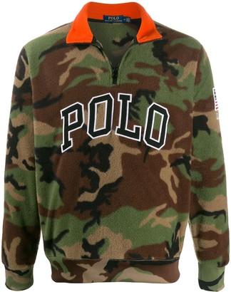 Polo Ralph Lauren Half-Zip Camouflage Jumper