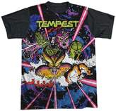 Atari Tempest Game Demon Reaching Multi Colored Adult Black Back T-Shirt