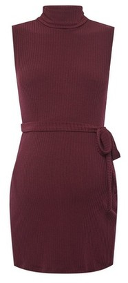 Dorothy Perkins Womens Maternity Red High Neck Tunic, Red