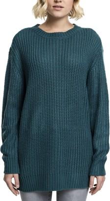 Urban Classics Women's Ladies Basic Crew Sweater