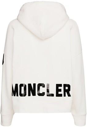 Moncler Logo Print Jersey Sweatshirt Hoodie