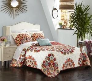Chic Home Rouen 4 Piece King Quilt Set Bedding
