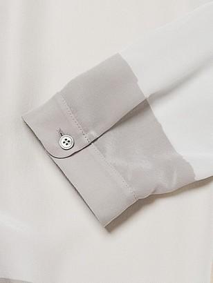 Akris Punto Mezzo Mezzo Printed Crepe Shirtdress