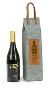 Bey-Berk Bey Berk Uncork Unwind Felt Wine Tote with Accents