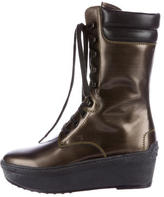 Tod's Platform Lace-Up Ankle Boots