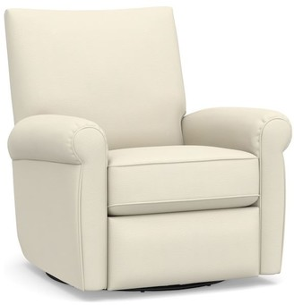 Pottery Barn Grayson Upholstered Swivel Armchair