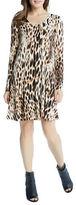 Karen Kane Scoopneck Long Sleeve Printed Dress
