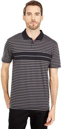 Brixton Shield Stripe Short Sleeve Polo X Knit (Black/Charcoal) Men's Clothing