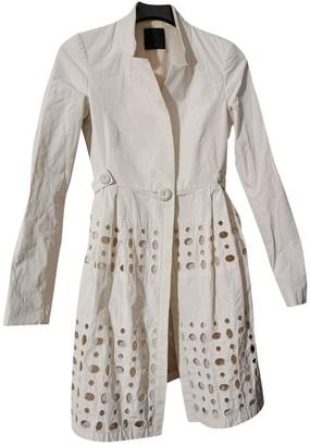 Pinko White Trench Coat for Women