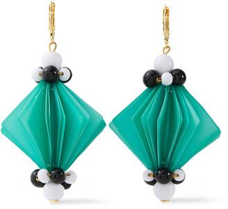 Marni Gold-tone, Resin And Bead Earrings