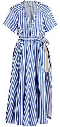 Rosie Assoulin Wrapped Cotton Jump Skort
