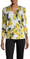 Dolce & Gabbana Cashmere Lemon Print Sweater