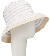 John Lewis Braid and Ribbon Garden Hat, White/Cream