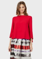 Emporio Armani Blouse In Cady Crepe With A Pleated Back