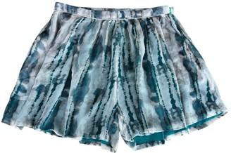 Suncoo Green Silk Skirt for Women