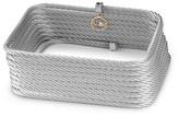 Alor 18K Gold Stainless Steel Diamond Accent Grey Rectangular Bracelet - 0.01 ctw