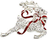 Charter Club Holiday Lane Silver-Tone Pavé Reindeer Brooch, Created for Macy's