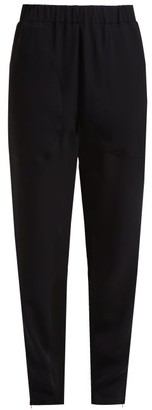 colville Zip-cuff Crepe Trousers - Black