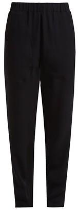 Colville - Zip-cuff Crepe Trousers - Womens - Black