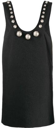 Christopher Kane Crinkle Jacquard Dome Mini Dress