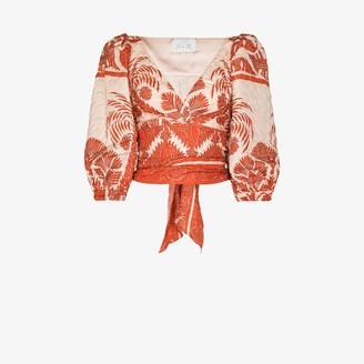 Johanna Ortiz Astral transit printed blouse