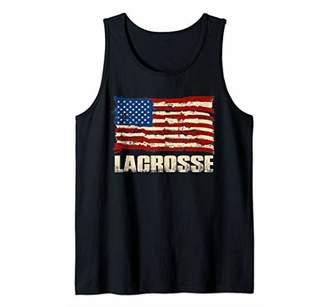 LaCrosse American Flag Patriotic US Gift Tank Top