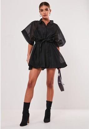 Missguided Organza Shirt Dress Ss