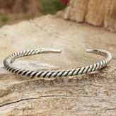 Men's Artisan Crafted Sterling Silver Cuff Bracelet, 'Thai Swirl'