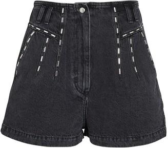 IRO Barra Embellished Denim Shorts