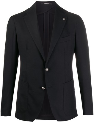 Tagliatore Lapel Pin Button Cuff Blazer Jacket