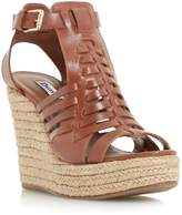 Dune KARNIVAL - Leather Huarache Wedge Sandal
